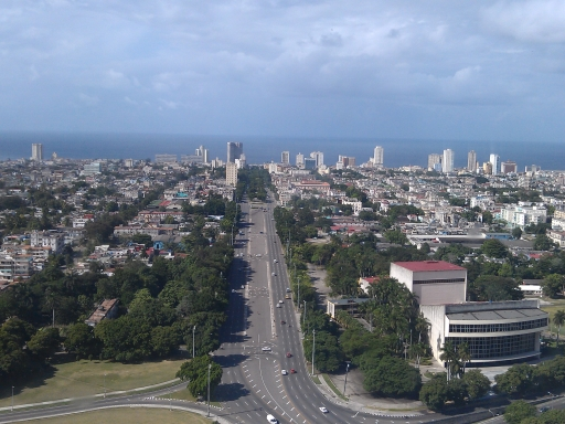 View from the Jose Marti memorial over Havana