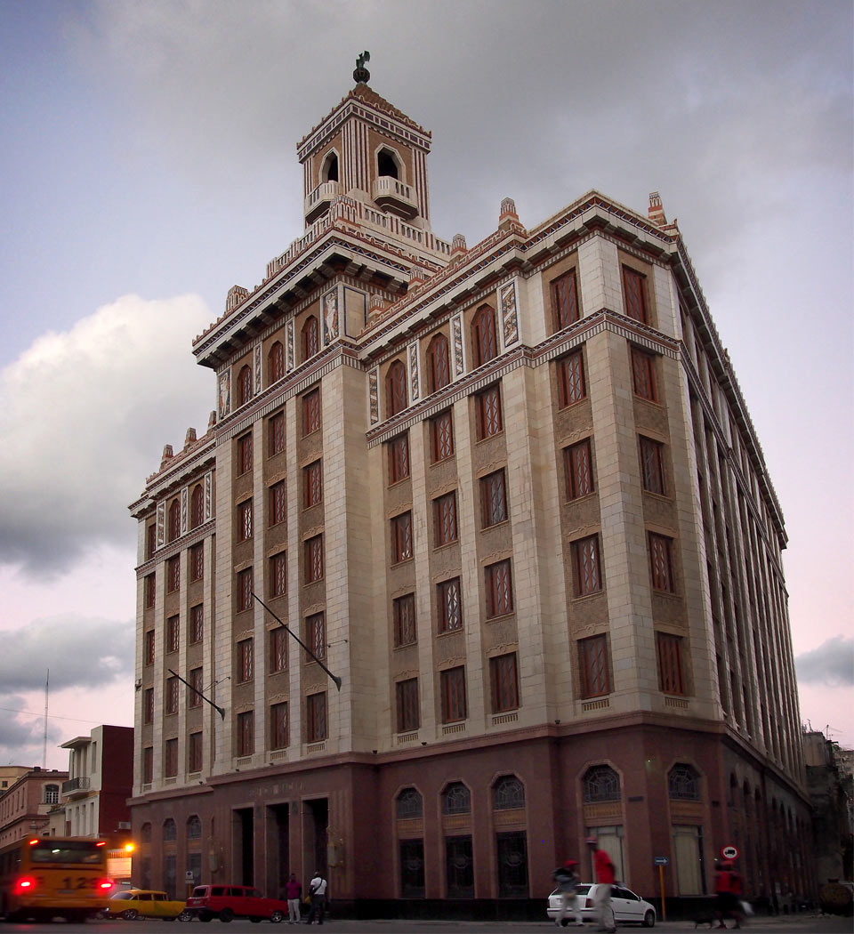 The Bacardi building in Havana, Cuba